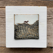 Load image into Gallery viewer, SMALL ART BLOCK WITH HORSE