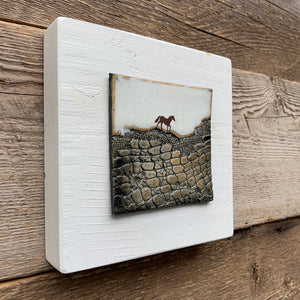 SMALL ART BLOCK WITH HORSE