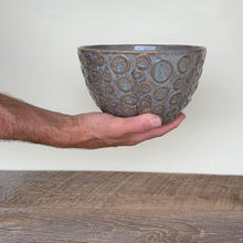 Load image into Gallery viewer, SLATE TALI SERVING BOWL WITH CIRCLES