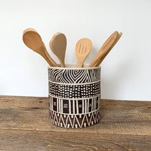 Load image into Gallery viewer, AFRICA MODERN UTENSIL HOLDER IN MUDCLOTH