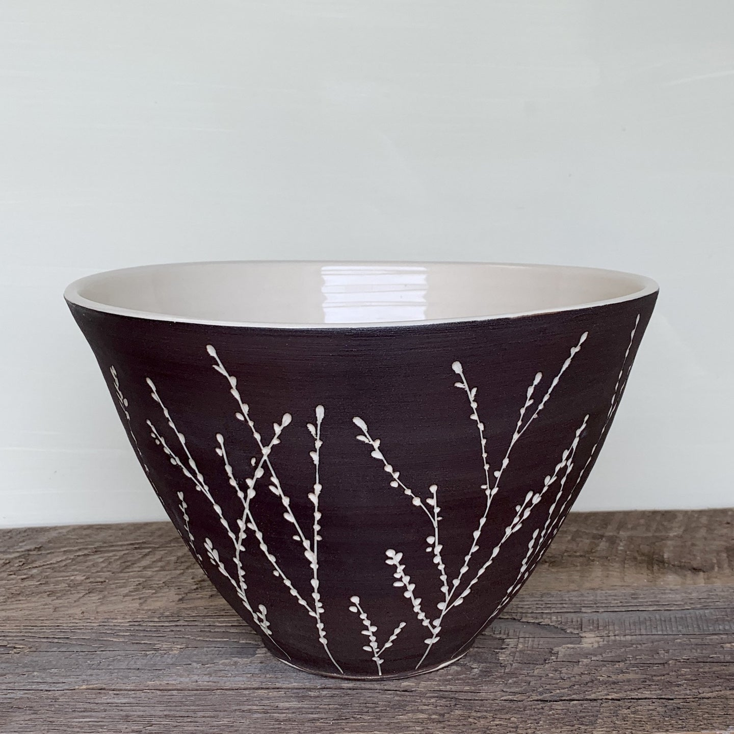 BOTANICAL TALL SERVING BOWL