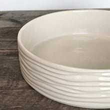 Load image into Gallery viewer, IVORY CYLINDER SERVING BOWL IN WAVE - MEDIUM