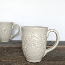 Load image into Gallery viewer, Handcrafted Carved White Mug