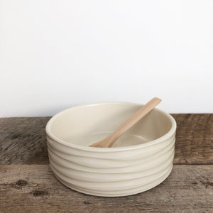 IVORY PATE DISH IN WAVE