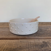 Load image into Gallery viewer, IVORY PATE DISH WITH DOTS WITH SPOON