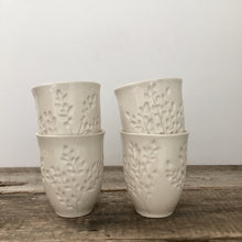 Load image into Gallery viewer, IVORY WINE CUPS WITH CARVED BRANCHES