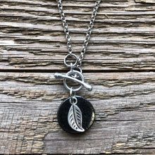 Load image into Gallery viewer, Leaf Charm Necklace handmade in Canada by Dotti Potts Studio