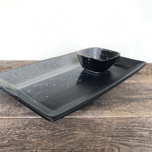 "MIDNIGHT PLATTER SET, MEDIUM (7 1/2""  X 12 1/2"" )"