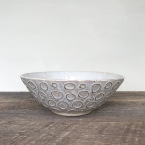 OATMEAL LINDA BOWL WITH CIRCLES