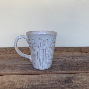 OATMEAL MUG WITH PUSSY WILLOWS - 16 OUNCES