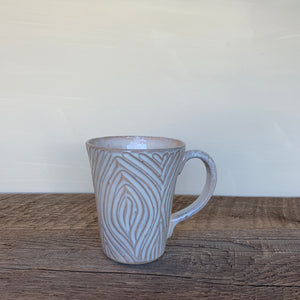 OATMEAL MUG IN WOODGRAIN - 16 OUNCES