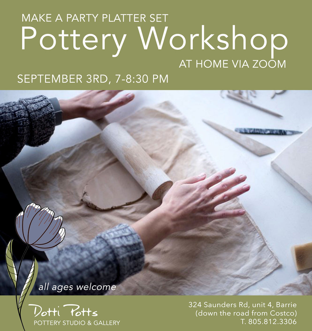 Virtual workshop to make a party platter set on September 3