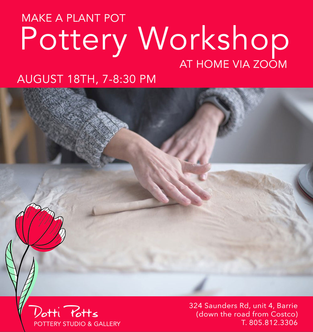 Virtual workshop to make a plant pot August 18