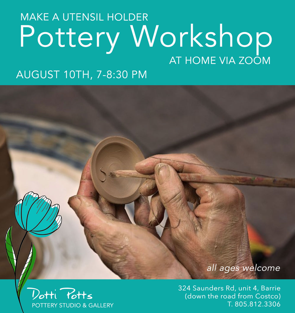 Virtual workshop to make a utensil holder on August 10