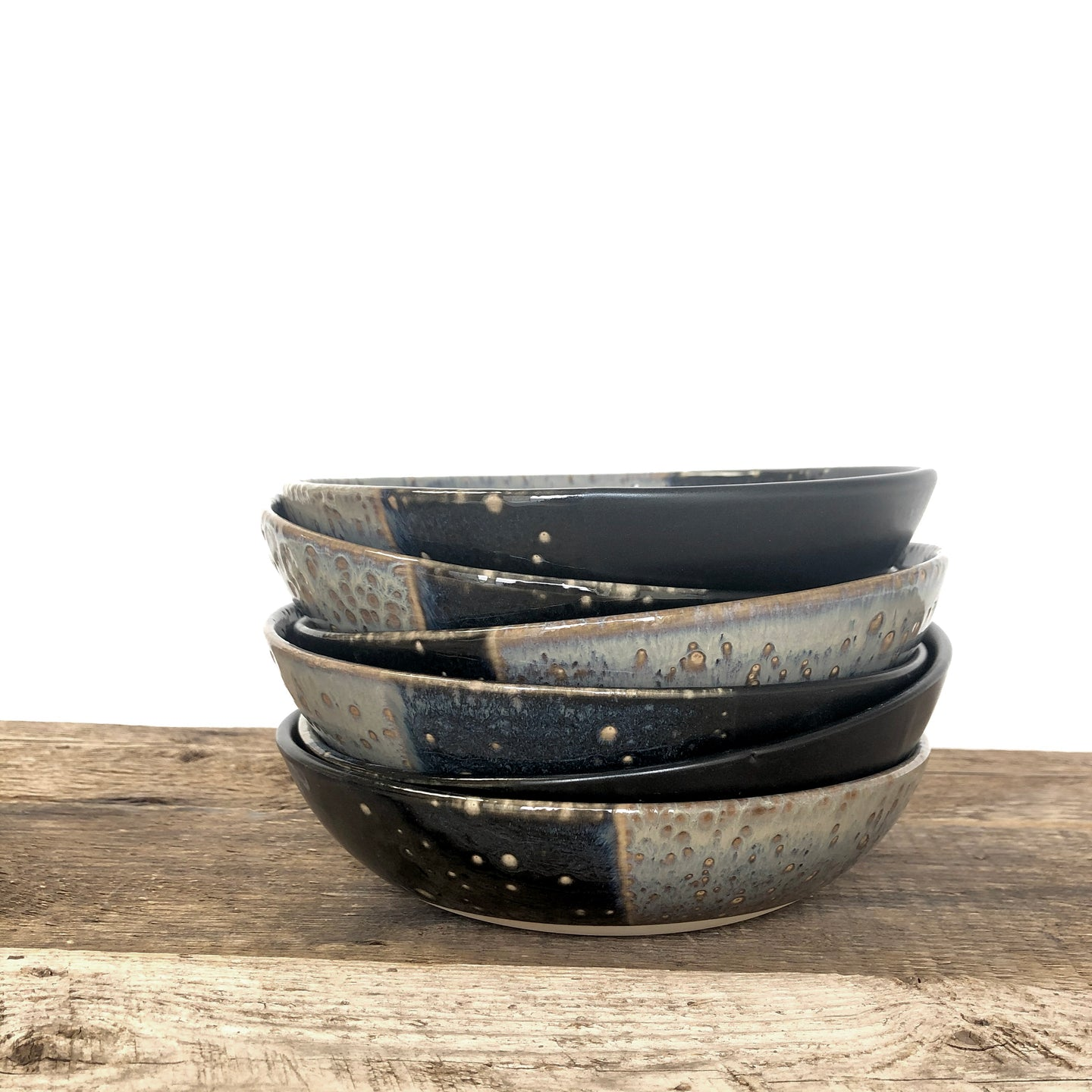 MIDNIGHT SMALL SHALLOW BOWLS