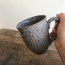 Load image into Gallery viewer, SLATE MUG WITH PUSSY WILLOWS - 15 OUNCES
