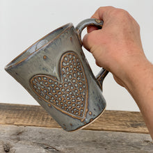 Load image into Gallery viewer, SLATE MUG WITH HEART  - 16 OUNCES