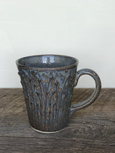 Load image into Gallery viewer, SLATE MUG WITH PUSSY WILLOWS - 16 OUNCES