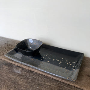 "MIDNIGHT PLATTER SET, SMALL (11"" X 6"")"
