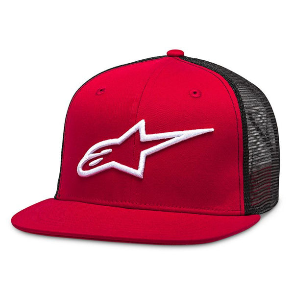 Casquette Alpinestars Corp Trucker Red Black