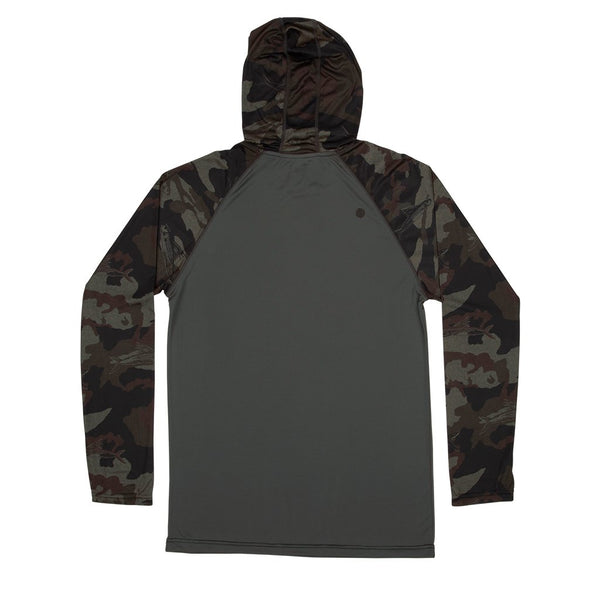 Sweat-shirt protection UV Salty Crew Tippet Pinnacle Tech Hood Camo