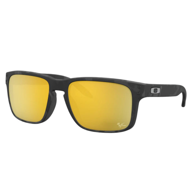 Lunette Oakley Holbrook Matte Black Tortoise Prizm 24K Polarisé Moto Gp Collection