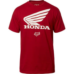 Tee-Shirt Fox Racing Honda SS tee rouge