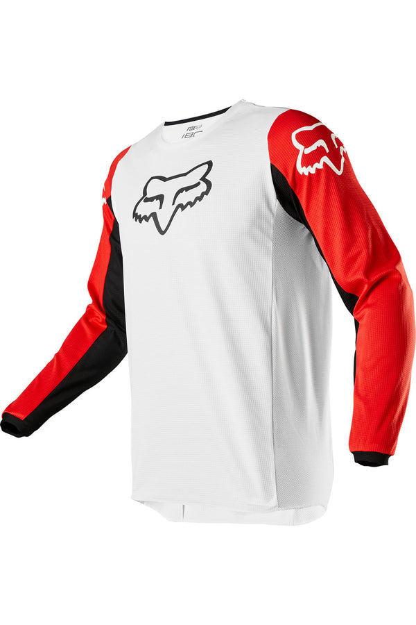 Maillot Cross Fox 180 Prix Jersey Blanc Rouge