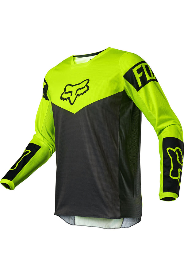Maillot Cross Fox Racing 180 Revn Jersey Jaune Fluo