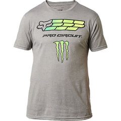 Tee-Shirt Fox Racing Monster Pro Circuit Premium tee gris