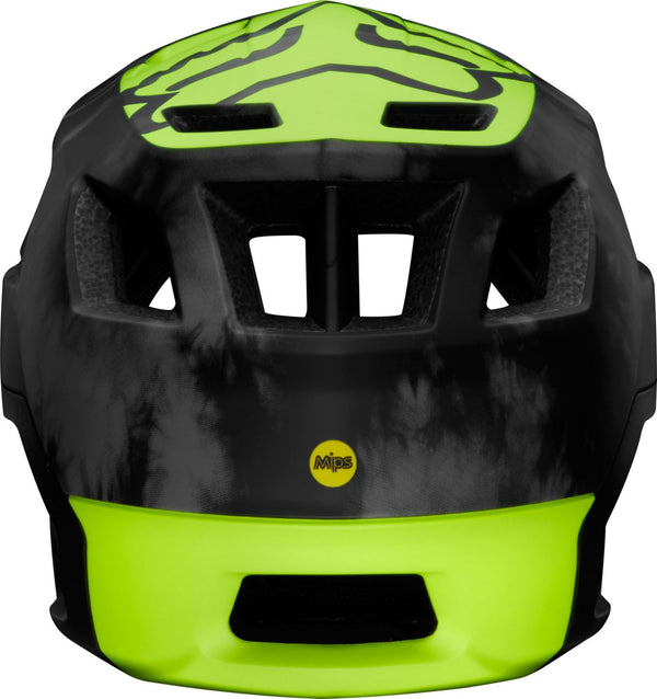 Casque FOX RACING DROPFRAME PRO Noir Jaune Fluo