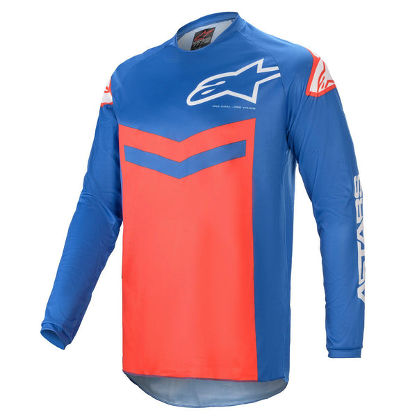 Maillot Fluid Alpinestars Speed Jersey Blue Bright Red