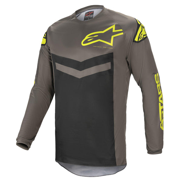 Maillot Alpinestars Fluid Speed Jersey Dark Gray Yellow Fluo
