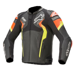 Blouson Alpinestars Atem V4 Leather Black Gray White