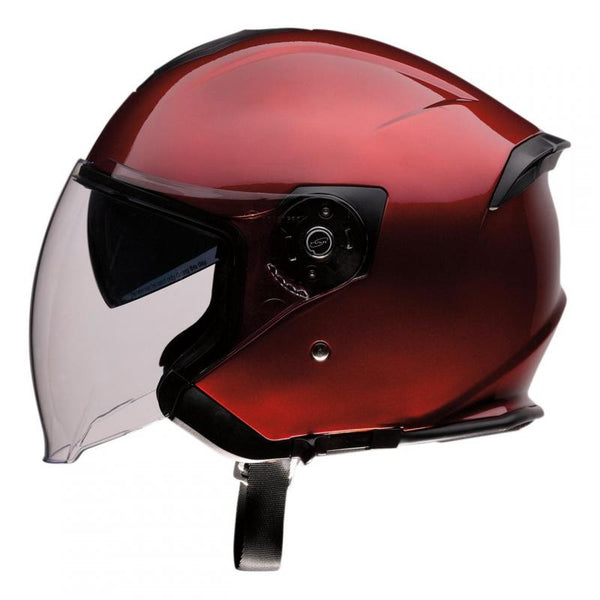 Casque route jet Z1R Road Maxx Wine