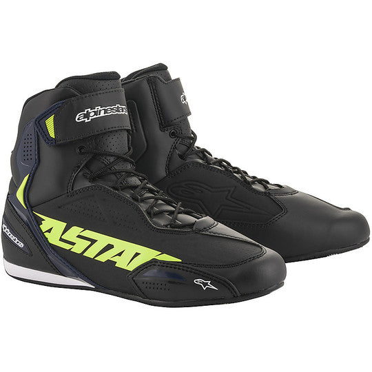BOTTES ALPINESTARS FASTER-3 BLACK / YELLOW FLUO / BLUE