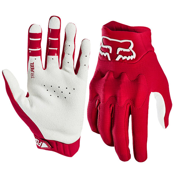 Gants Cross Fox Bomber Lt Glove Blanc Rouge