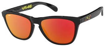 Lunette Oakley Frogskins Polished Black Prizm Ruby Valentino Rossi Collection