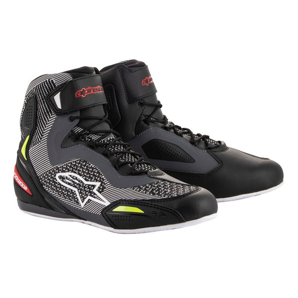 Bottes Alpinestars Faster-3 Rideknit Shoes Black Gray Red Yellow Fluo