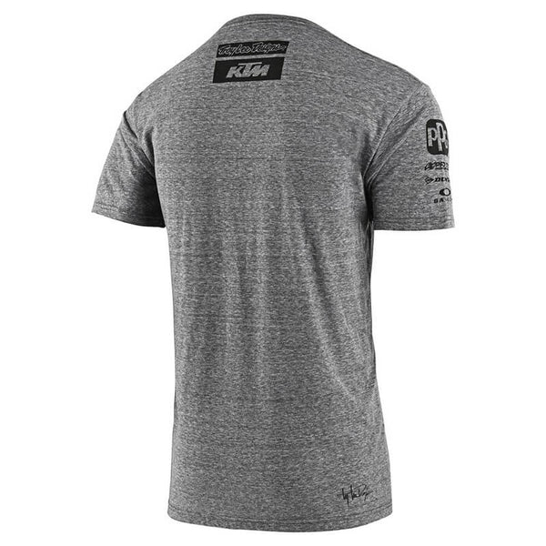 Tee-Shirt Troy Lee Design KTM Team Tee gris