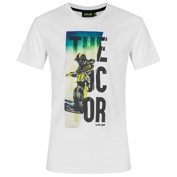 Tee Shirt Vr46 The Doctor Blanc