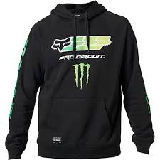 Sweat-shirt Fox Monster Pro Circuit Noir
