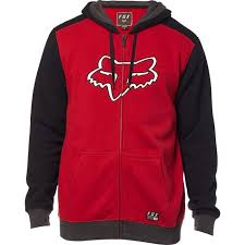 Sweat-shirt Fox Racing Destrakt Zip Fleece Roge
