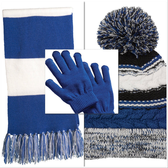 Veritas Winter Bundle (Scarf, Smart Gloves, Chunky Pom Hat)