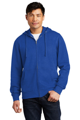 District Fleece Full-Zip Hoodie (XS-4XL)