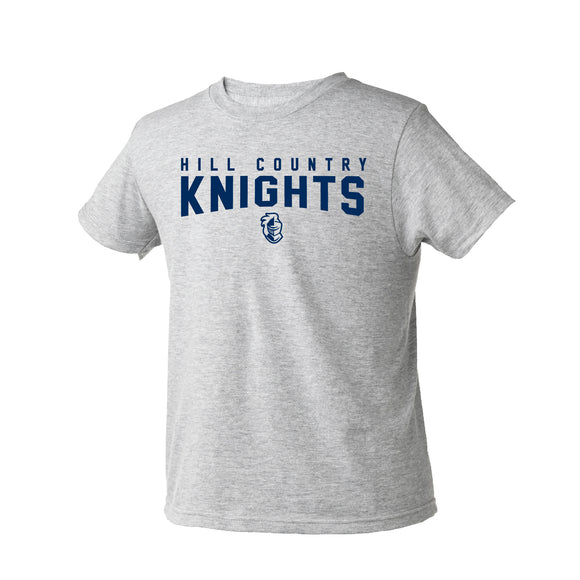 Youth, Hill Country Knights T-shirt (YXS-3XL Crew, V-Neck, Youth)
