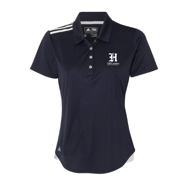 Knights Adidas 3 Stripe Chest Navy Polo, Ladies