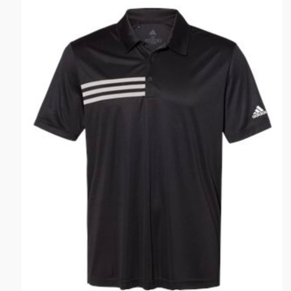 Adidas 3 Strip Chest Polo (add logo)