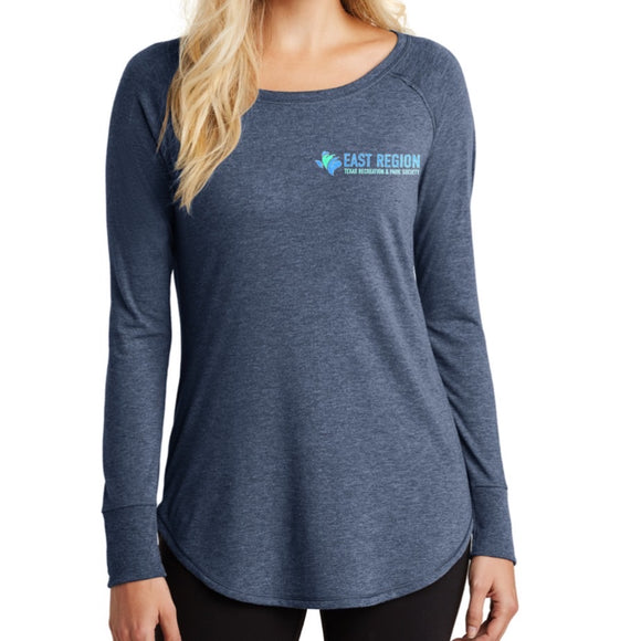 Long Sleeve Ladies Lightweight, TRAPS East Region Logo (XS-4XL)