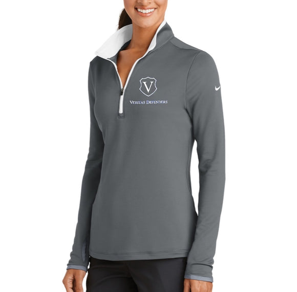 Veritas Defenders Shield Nike Ladies Dri-FIT Stretch Half Zip (S-2XL)